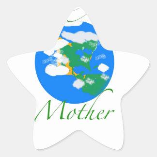 Ame a su madre pegatina en forma de estrella
