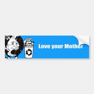 Ame a su madre pegatina para auto