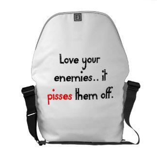 Ame a sus enemigos bolsa de mensajeria