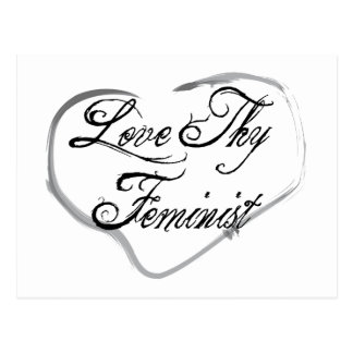 Ame a Thy feminista Tarjetas Postales