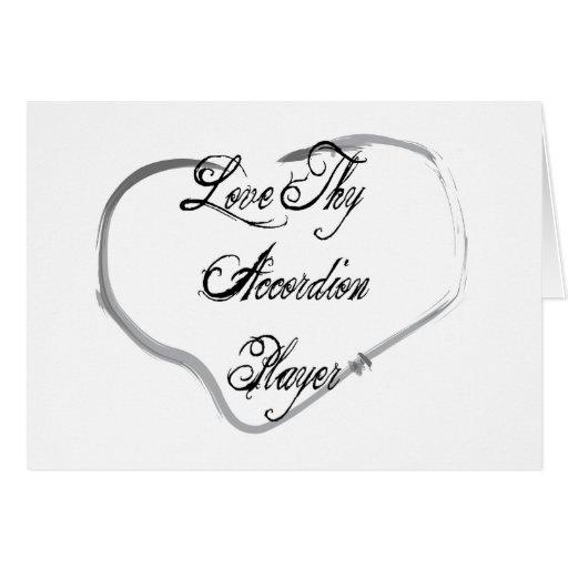 Ame a Thy jugador del acordeón Felicitación