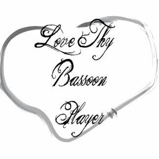 Ame a Thy jugador del Bassoon Adorno Fotoescultura