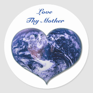 Ame a Thy madre Pegatina Redonda