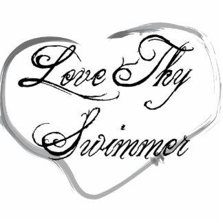 Ame a Thy nadador Escultura Fotográfica