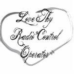Ame a Thy operador de control de radio Escultura Fotográfica