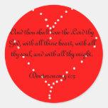Ame a thy pegatina del corazón del señor