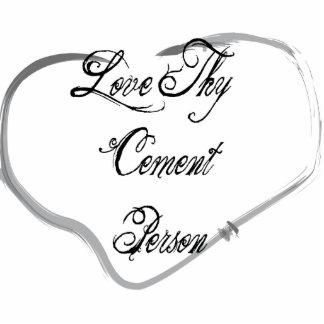 Ame a Thy persona del cemento Escultura Fotográfica