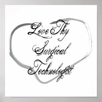 Ame a Thy tecnólogo quirúrgico Poster