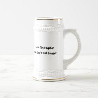 Ame a thy vecino jarra de cerveza