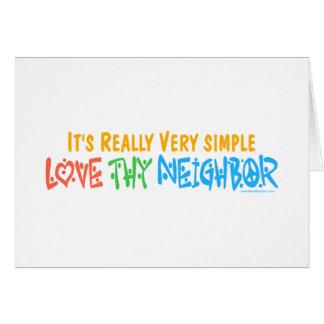Ame a Thy vecino Tarjeta De Felicitación