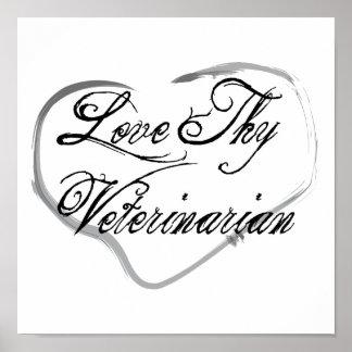 Ame a Thy veterinario Póster
