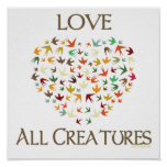 Ame a todas las criaturas posters