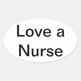 ame a un pegatina de la enfermera