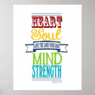 Ame al señor con todo su corazón póster