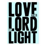 Ame al señor de la luz postal