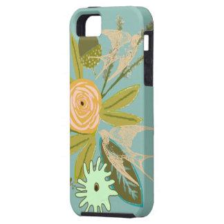 Ame caja del teléfono del iphone 5S del pájaro y Funda Para iPhone 5 Tough
