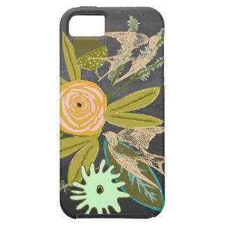 Ame caja del teléfono del iphone 5S del pájaro y iPhone 5 Funda