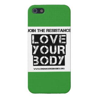 """""""Ame caso del iPhone de su cuerpo"""" iPhone 5 Carcasas"""