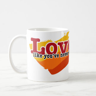 Ame, como usted nunca han estado dañados taza básica blanca
