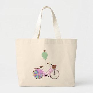 Ame completar un ciclo en mi bici rosada del galop bolsa tela grande