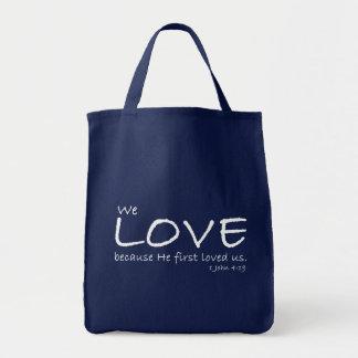 Ame el bolso de la lona (de 1 4:19 de Juan) Bolsas