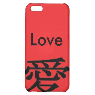 Ame el carácter chino del iPhone 4 del amor negro