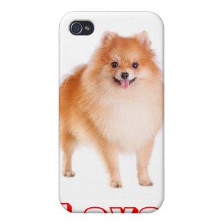 Ame el caso del iPhone 4 del perro de perrito de P iPhone 4/4S Fundas