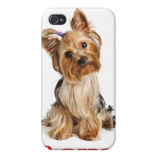 Ame el caso del iPhone 4 del perro de perrito de Y iPhone 4 Funda