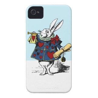 Ame el conejo blanco Alicia en el país de las mara iPhone 4 Carcasa