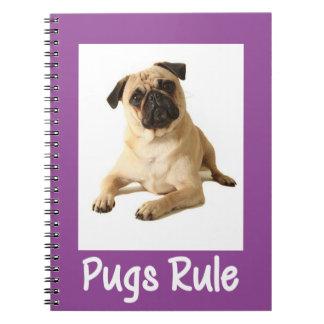 Ame el cuaderno/el diario púrpuras del perro de libreta espiral