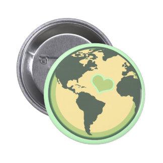 Ame el Día de la Tierra del planeta Pin Redondo De 2 Pulgadas