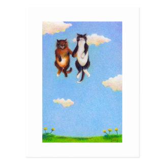 Ame el fechar de gatos lindos golpeados violentame postales