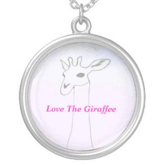 Ame el Giraffee Colgantes Personalizados