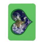 Ame el imán (verde) de la tierra