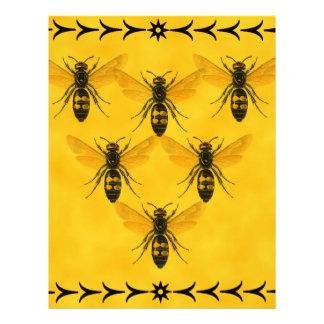 Ame el insecto: Escuadrilla de la chaqueta amarill Membrete A Diseño