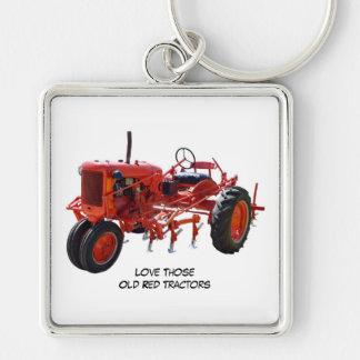 Ame el llavero rojo viejo de esos tractores