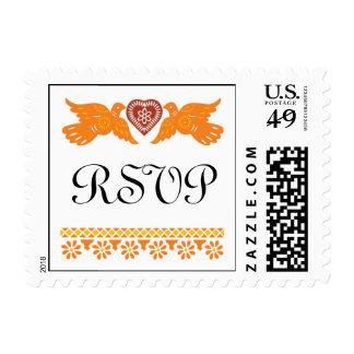 Ame el pequeño franqueo del boda de los pájaros - timbre postal
