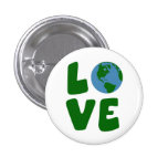 Ame el planeta de la madre tierra pin redondo de 1 pulgada