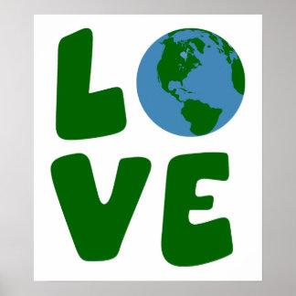 Ame el planeta de la madre tierra póster