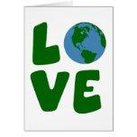 Ame el planeta de la madre tierra tarjetas