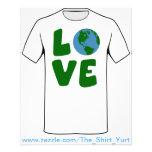 Ame el planeta de la madre tierra tarjeton