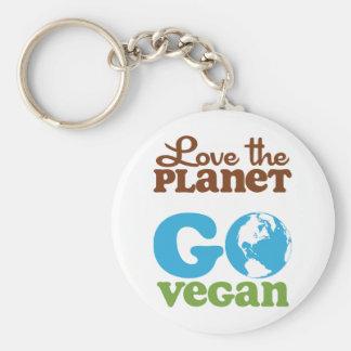 Ame el planeta van vegano llavero redondo tipo pin
