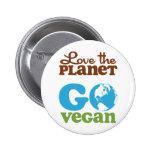 Ame el planeta van vegano pin