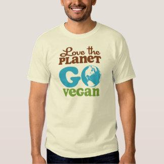 Ame el planeta van vegano remeras