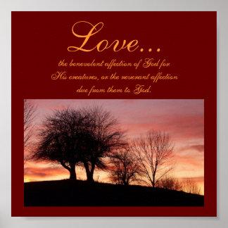 Ame…, el poste religioso benévolo del afecto… póster
