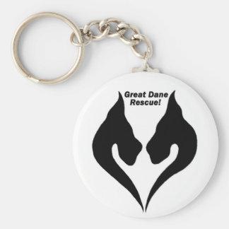 ¡Ame el rescate de great dane! Llaveros Personalizados