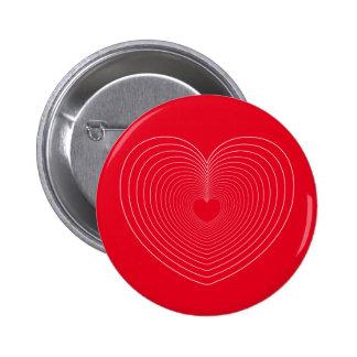 AME el ♥ Std, botón redondo del ♥ 01 de las Pin Redondo De 2 Pulgadas