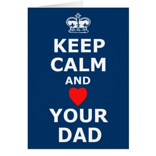 Ame el su día de padre de la mamá tarjeta de felicitación