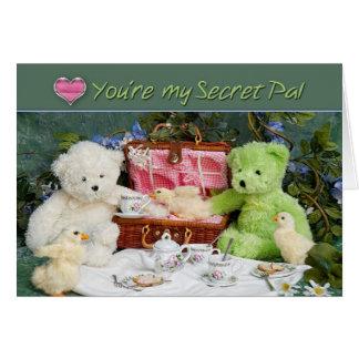 Ame el tener de usted para PAL secreto - la tarjet Tarjeton
