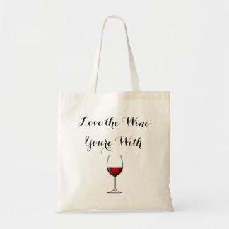 Ame el vino que usted está con bolsa tela barata